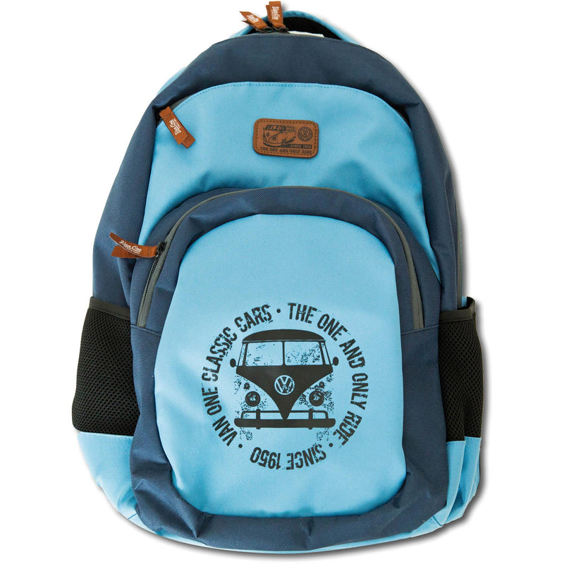 BULLI FACE USED Backpack navy light blue