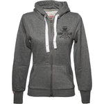SURF CLUB Womens Zip Hoodie dark grey black