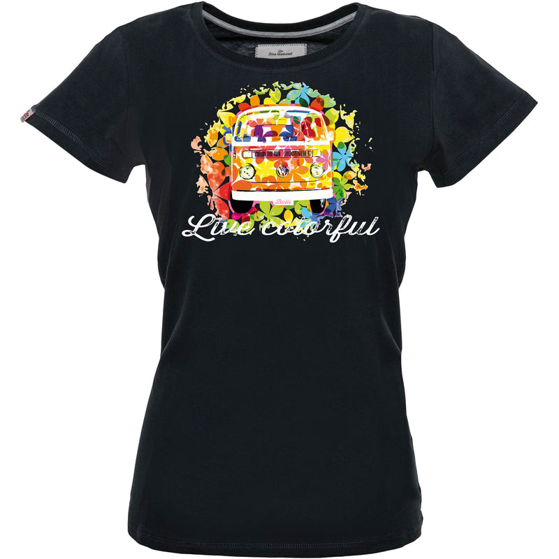 LIVE COLORFUL Womens Shirt black