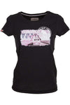 Bulli World Tour Fehmarn VW Bulli Women T-Shirt schwarz