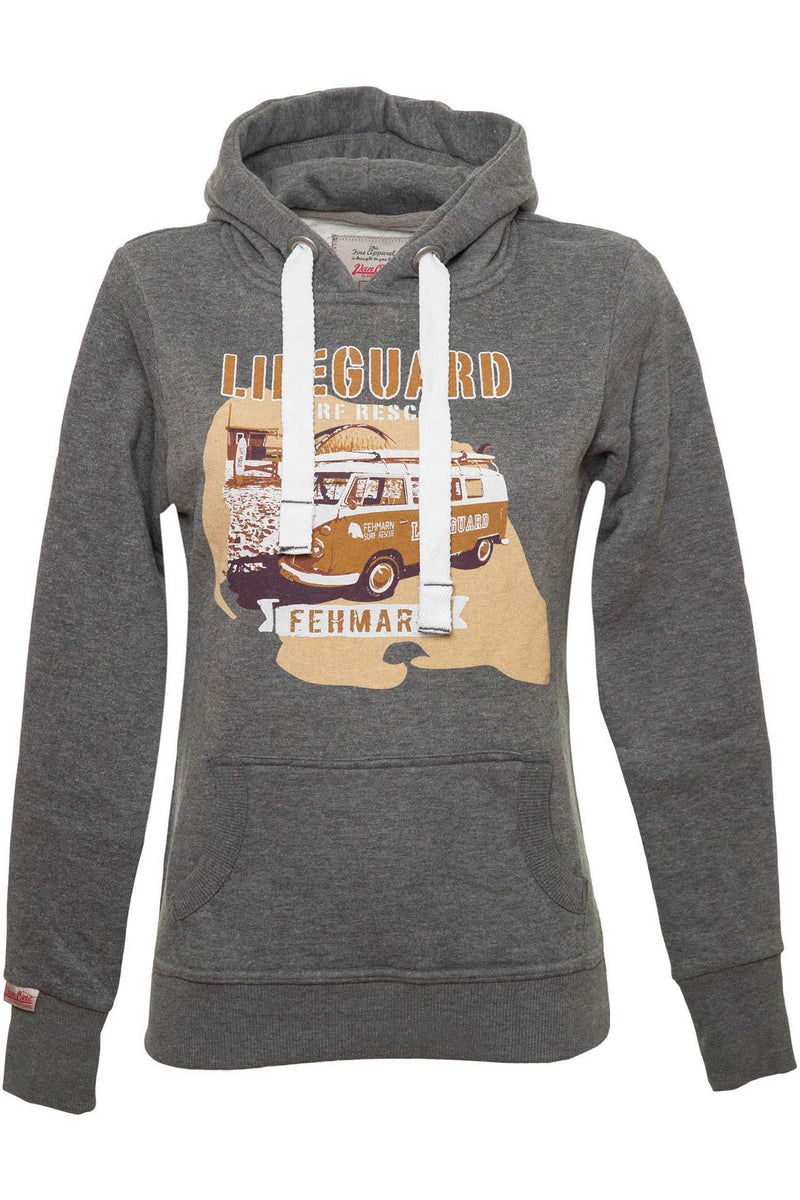 DESTINATION FEHMARN VW BULLI Women Hoodie dark grey