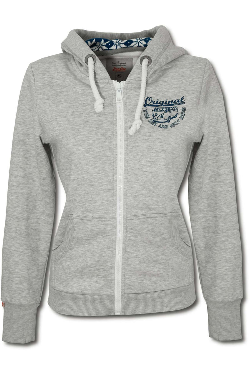 ORIGINAL RIDE VW BULLI Women Zip Hoodie light grey navy