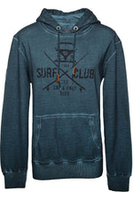 SURF CLUB USED Mens Vintage Hoodie indigo