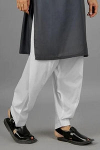 Men Cotton Shalwar (White)