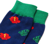 Load image into Gallery viewer, Fun Variation Sox - Red Flower
