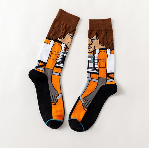 Luke Skywalker Star Wars Movie Men's or Women's Socks