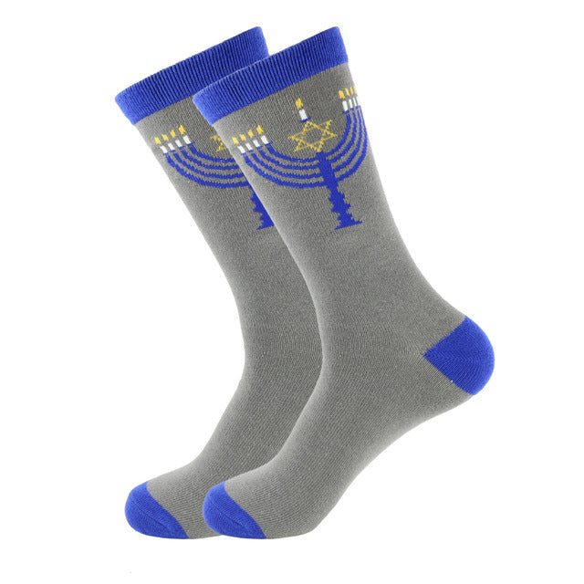 Hanukkah Socks - Cotton Prints