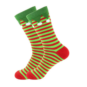 Christmas Socks - Cotton Prints - Green Elf