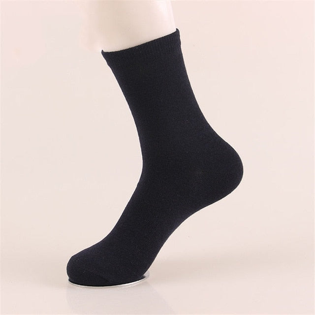 5 Pairs Mens Fashion Dress - Cotton Socks - Blue
