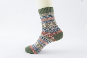 Winter Soft and Warm Wool Socks - Green, Blue and Red