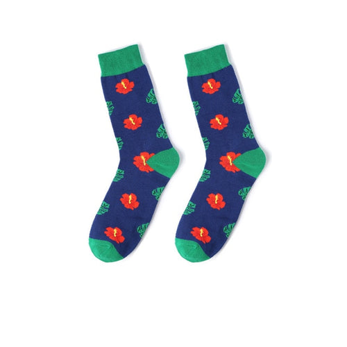 Fun Variation Sox - Red Flower