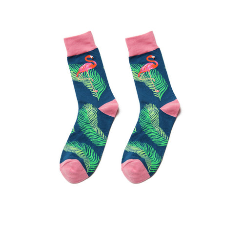 Fun Variation Sox - Flamingo and Branches