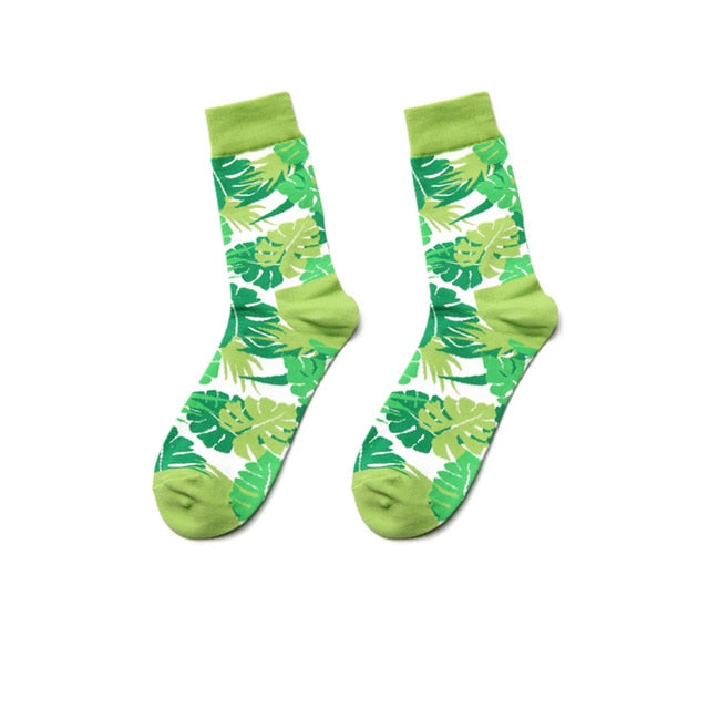 Fun Variation Sox - Green Leaves