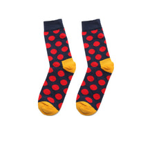 Load image into Gallery viewer, Fashion Casual Polka Dot Cotton Socks Men - Red, Blue, Yellow Detail
