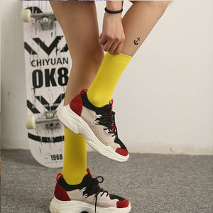 Women's Solid Color Sox