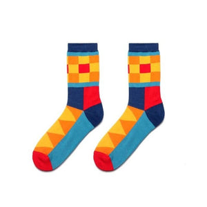 Colorful Dress Women & Men's Socks High Quality - Lattice