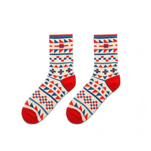 Colorful Dress Women & Men's Socks High Quality - Geometry