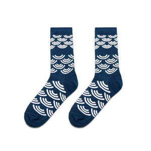 Colorful Dress Women & Men's Socks High Quality - Waves