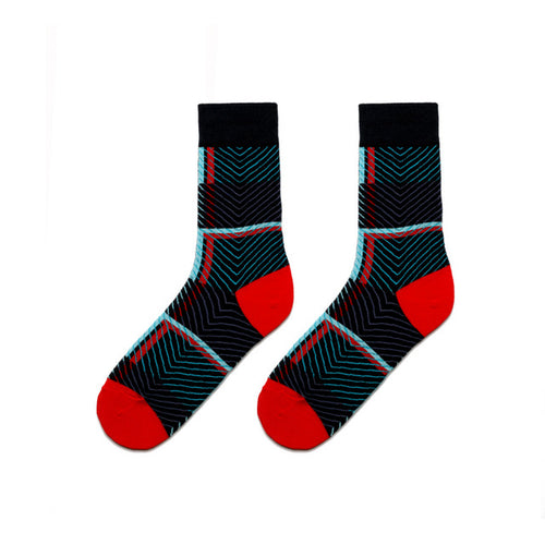 Colorful Dress Women & Men's Socks High Quality - Dark Cell