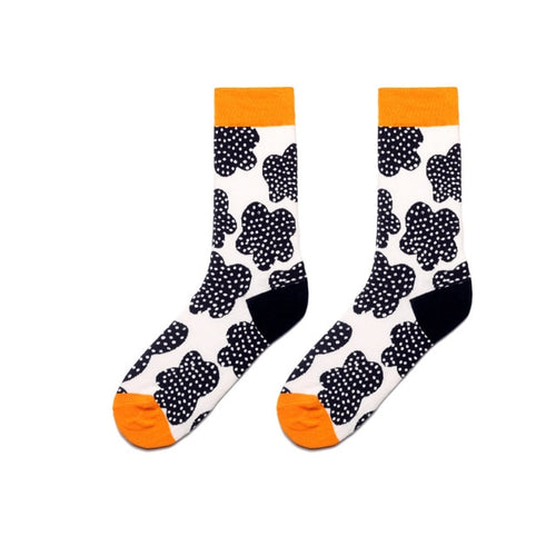 Colorful Dress Women & Men's Socks High Quality - Spot Flower