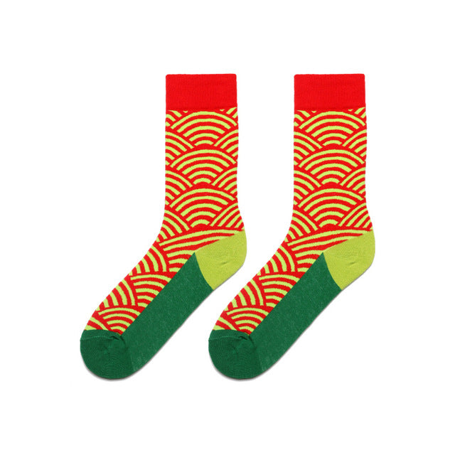 Colorful Dress Women & Men's Socks High Quality - Ripple