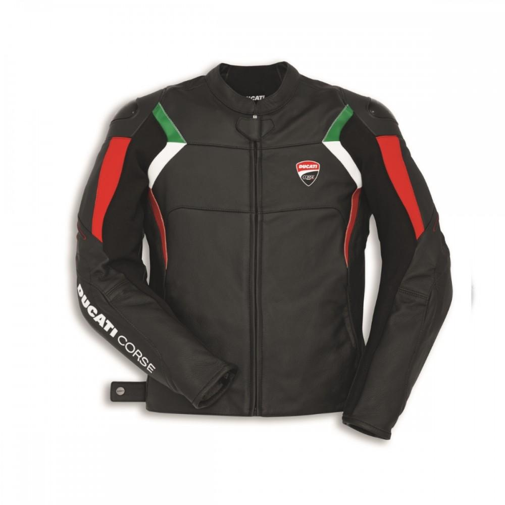 Ducati Corse C3 Dainese Leather Perforated Jacket - Black