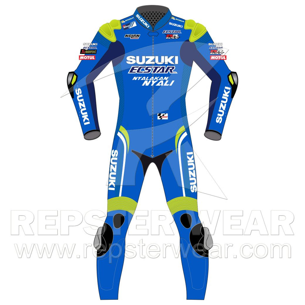 Suzuki Ecstar Álex Rins Motorcycle Racing Leather Suit 2020