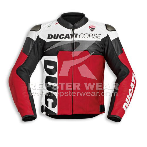Ducati Corse C5 Motorbike Racing Leather Jacket