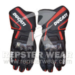 ducati motorbike racing leather gloves