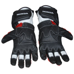 honda repsol motorbike racing leather gloves