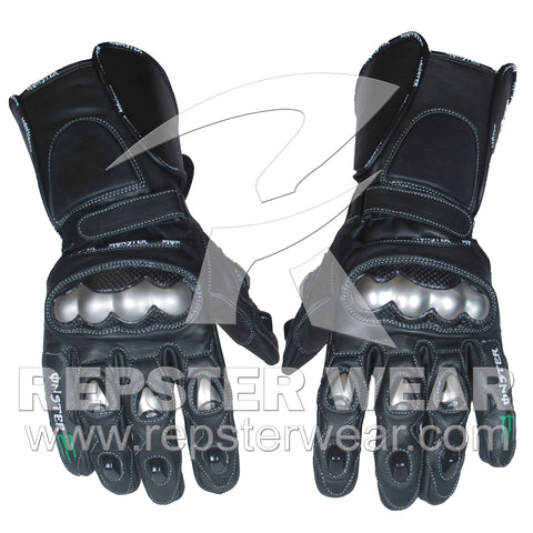 monster energy  motorbike racing leather gloves