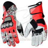nicky hayden motorbike racing leather gloves