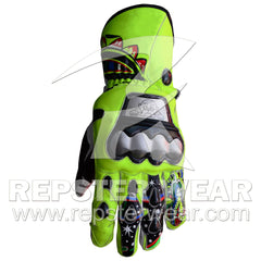 valentino rossi motorbike racing leather gloves
