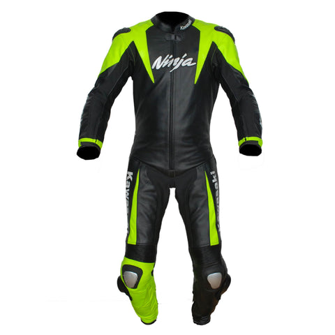 kawasaki ninja motorbike leather suit