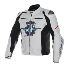 mv agusta motorbike racing leather jacket for men and women