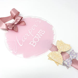 Personalised Bow Storage Hanging Plaque