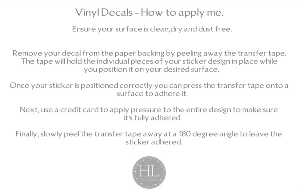 Vinyl Decal Labels