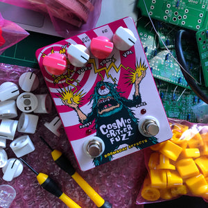 Cosmic Critter Fuzz PINK EDITION | Doomsday Guitar Effects Pedals Handmade Sunshine Coast Australia