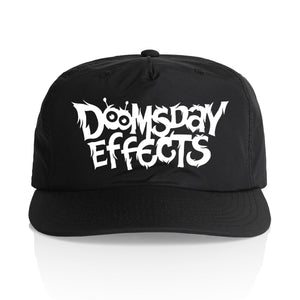 Doomsday Logo Snapback Hat (White)  | Doomsday Guitar Effects Pedals Handmade Sunshine Coast Australia