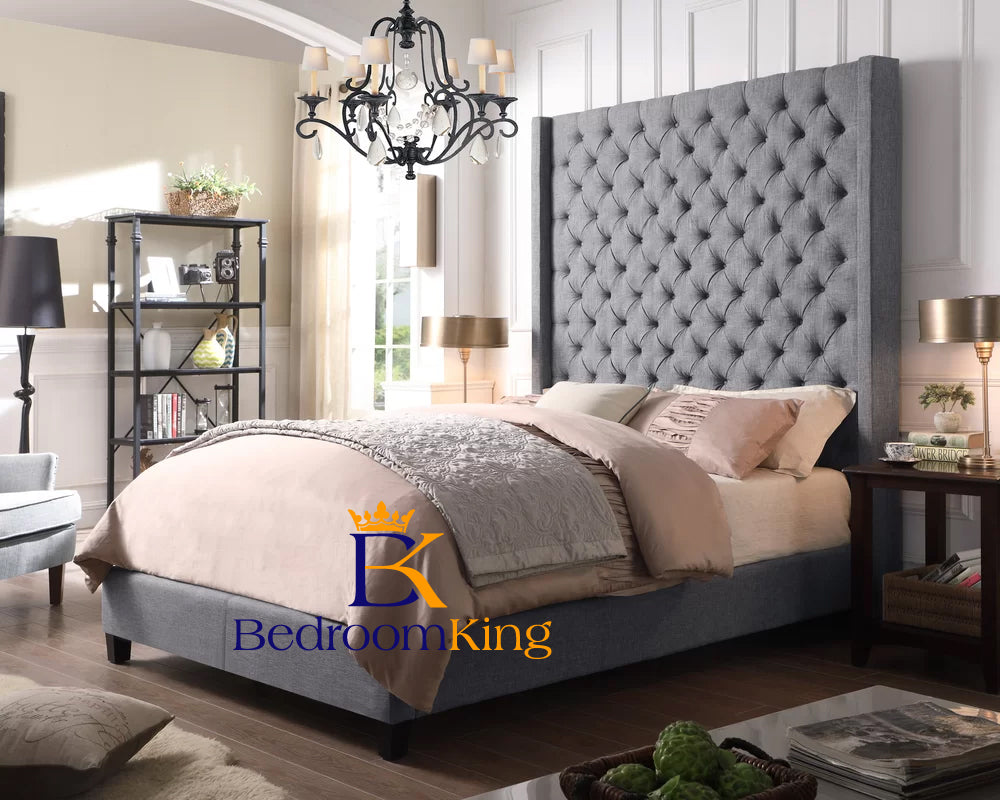 Elizabeth Winged Bed Frame with 75