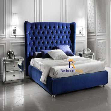 Belgravia Grand Wingback Bed Frame Available with ottoman or divan storage
