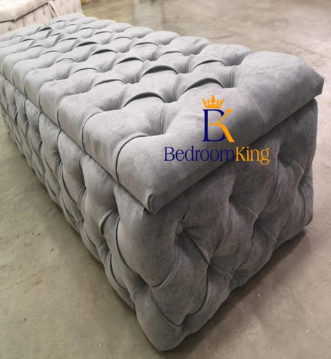 Full Chesterfield Ottoman Toy Blanket Box Bedroomking Exclusive Item