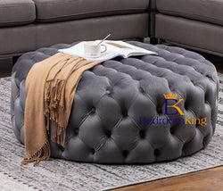 Olivia Chesterfield Buttoned Pouffe