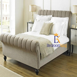 Belford Panel Scroll Sleigh Bed Frame