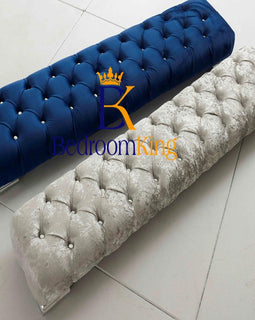 Luxury Footstool with Chesterfield Button Finish A Bedroomking Exclusive Item