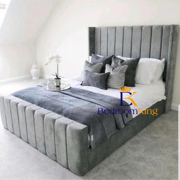 Arthur Panel Upholstered Bed Frame With High Footboard