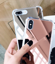 "Load image into Gallery viewer, ""MIRROR"" - Silver & Rose Gold - iPhone X, iPhone 11, iPhone 11 Pro, iPhone 11 Pro Max"