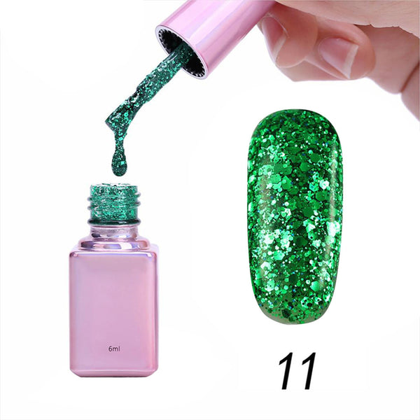 Gel Nail 6ml Diamond Glitter Nail Polish