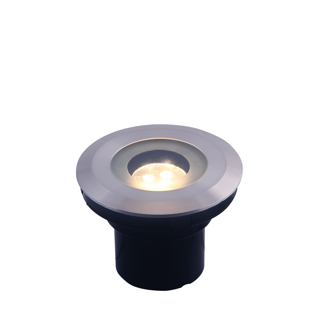 Agate uplight RVS rond