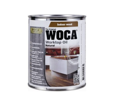 Woca worktop olie naturel 0,75 liter blik